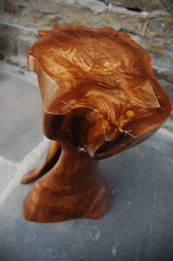 Elm Wood with Copper Powder Inlay Coffee Table